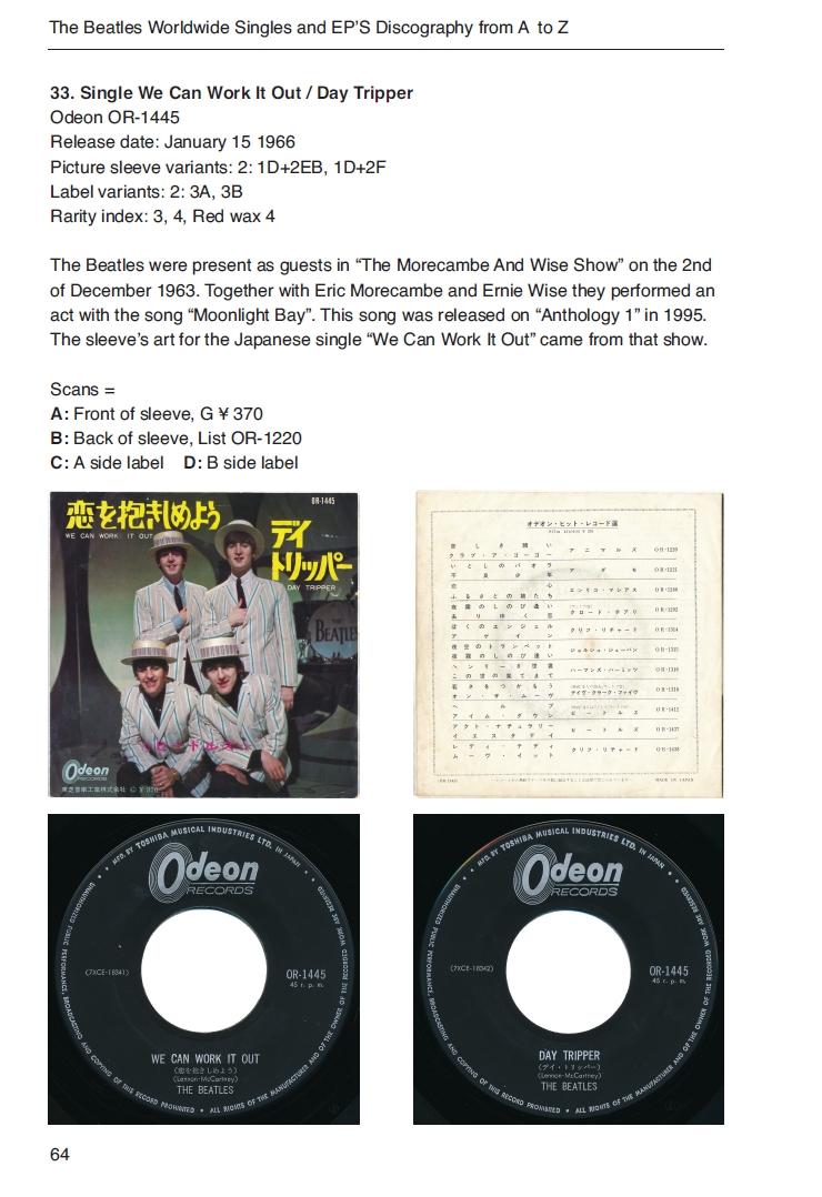 The Beatles worldwide singles and EP encyclopedia